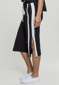 Urban Classics - LADIES TAPED TERRY CULOTTE - Tracksuit bottoms - black/white - 2
