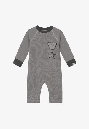 BADGED COSY PLAYSUIT BABY - Jumpsuit - grey