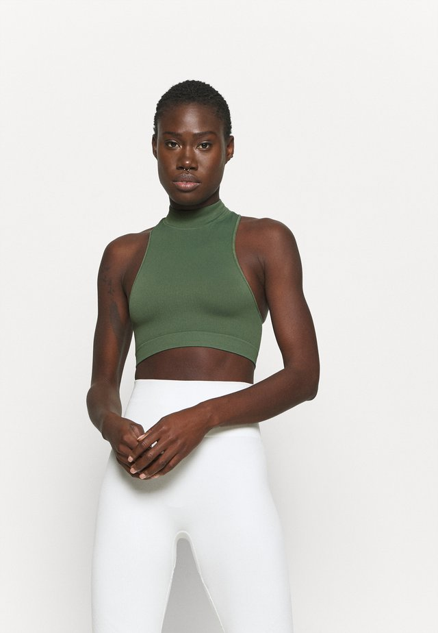 CROP - Top - khaki