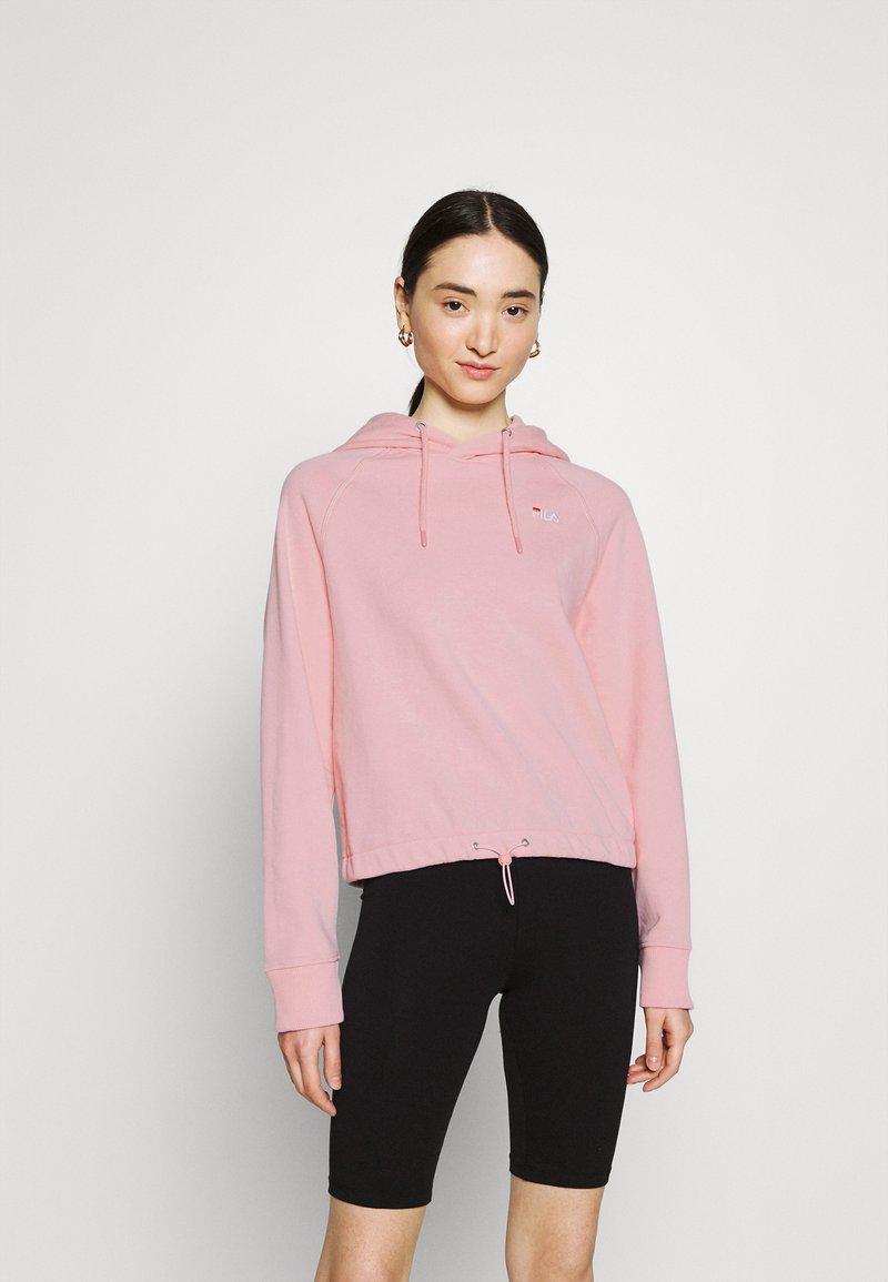 Fila - ELAXI CROPPED HOODY - Sweatshirt - coral blush