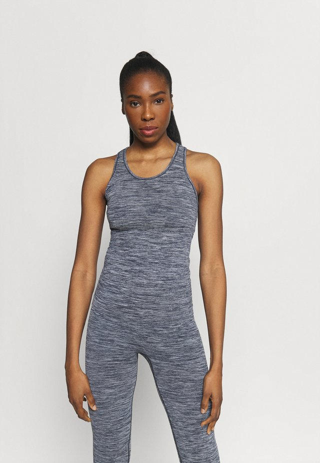 ESSENTIAL SEAMLESS RACERBACK - Débardeur - midnight blue melange