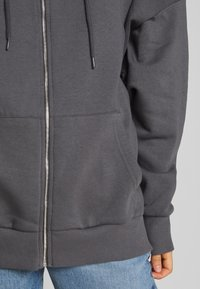 Nly by Nelly - CHUNKY ZIP HOODIE - Zip-up hoodie - offblack - 5