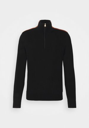 GENTS ZIP NECK - Jumper - black