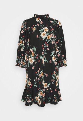 ONLZILLE NAYA HIGHNECK DRESS  - Denní šaty - black