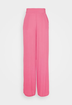 WIDE FLOWY PANTS - Trousers - pink
