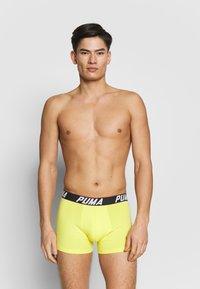 Puma - SPACEDYE STRIPE BOXER 2 PACK - Panties - yellow / grey - 2