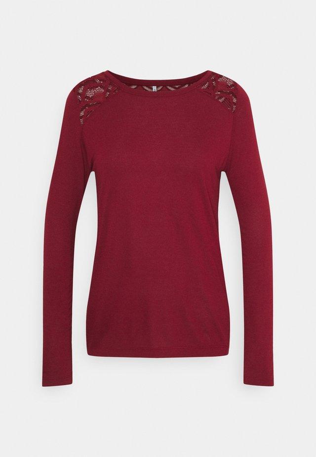 ONLNICOLE LIFE NEW MIX  - T-shirt à manches longues - pomegranate