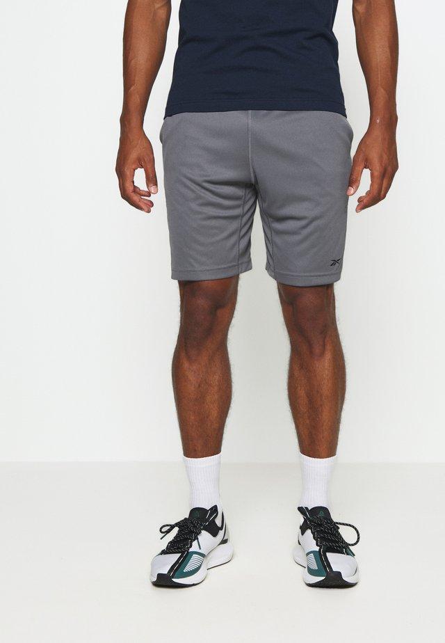 SHORT - Träningsshorts - mottled grey