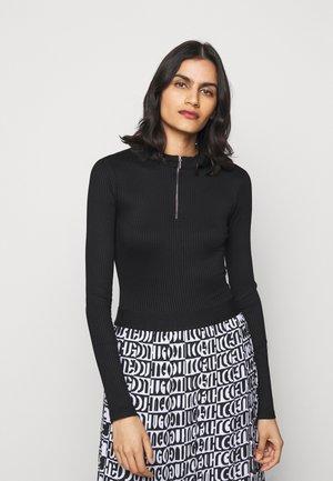 NEXY - Pitkähihainen paita - black