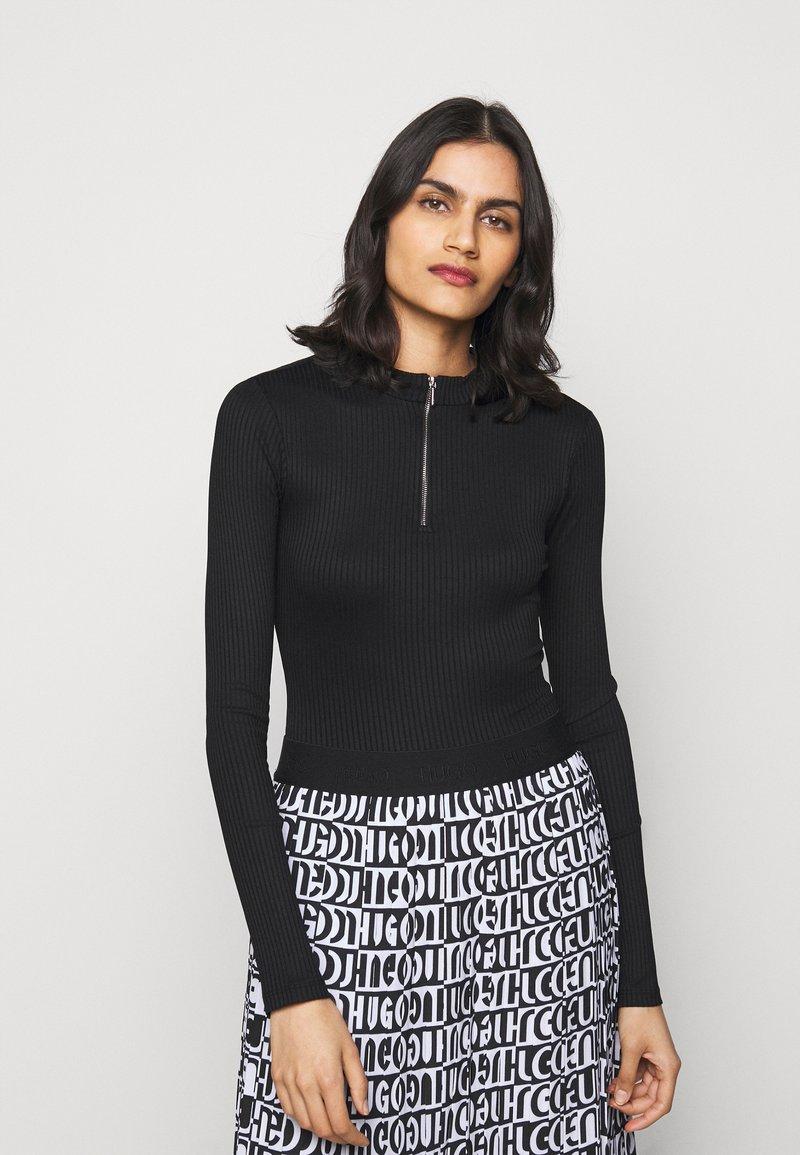 HUGO - NEXY - Long sleeved top - black