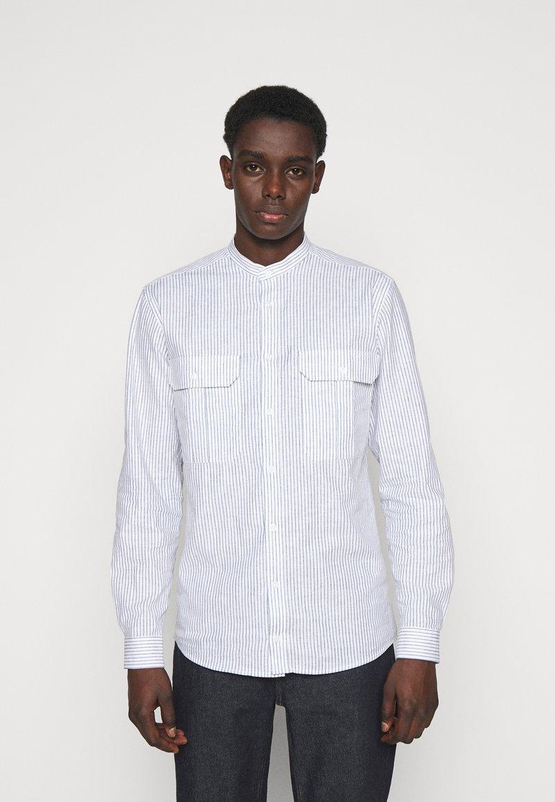 Bruuns Bazaar - RALF STRIBED CHINA  - Shirt - grey mist