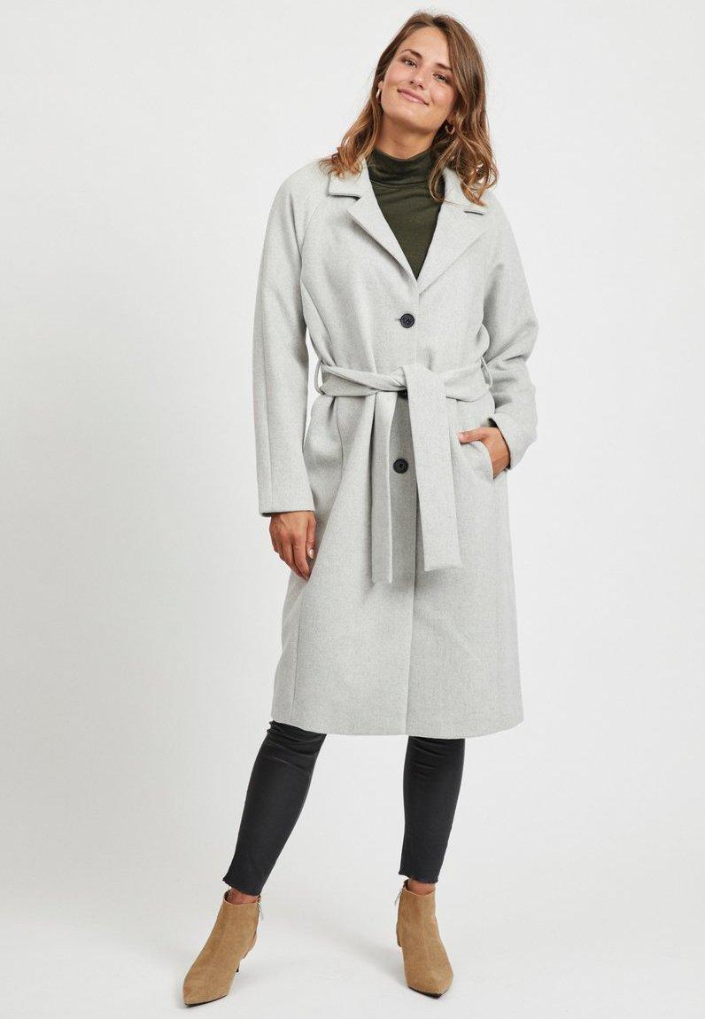 Object - Zimní kabát - light grey melange