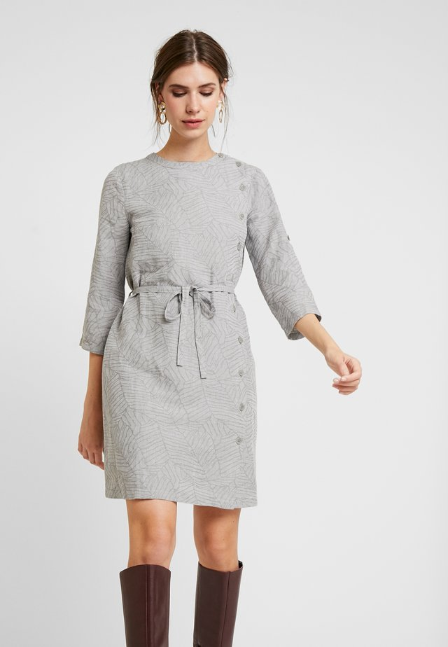 BUTTON DETAILED DRESS - Paitamekko - grey melange