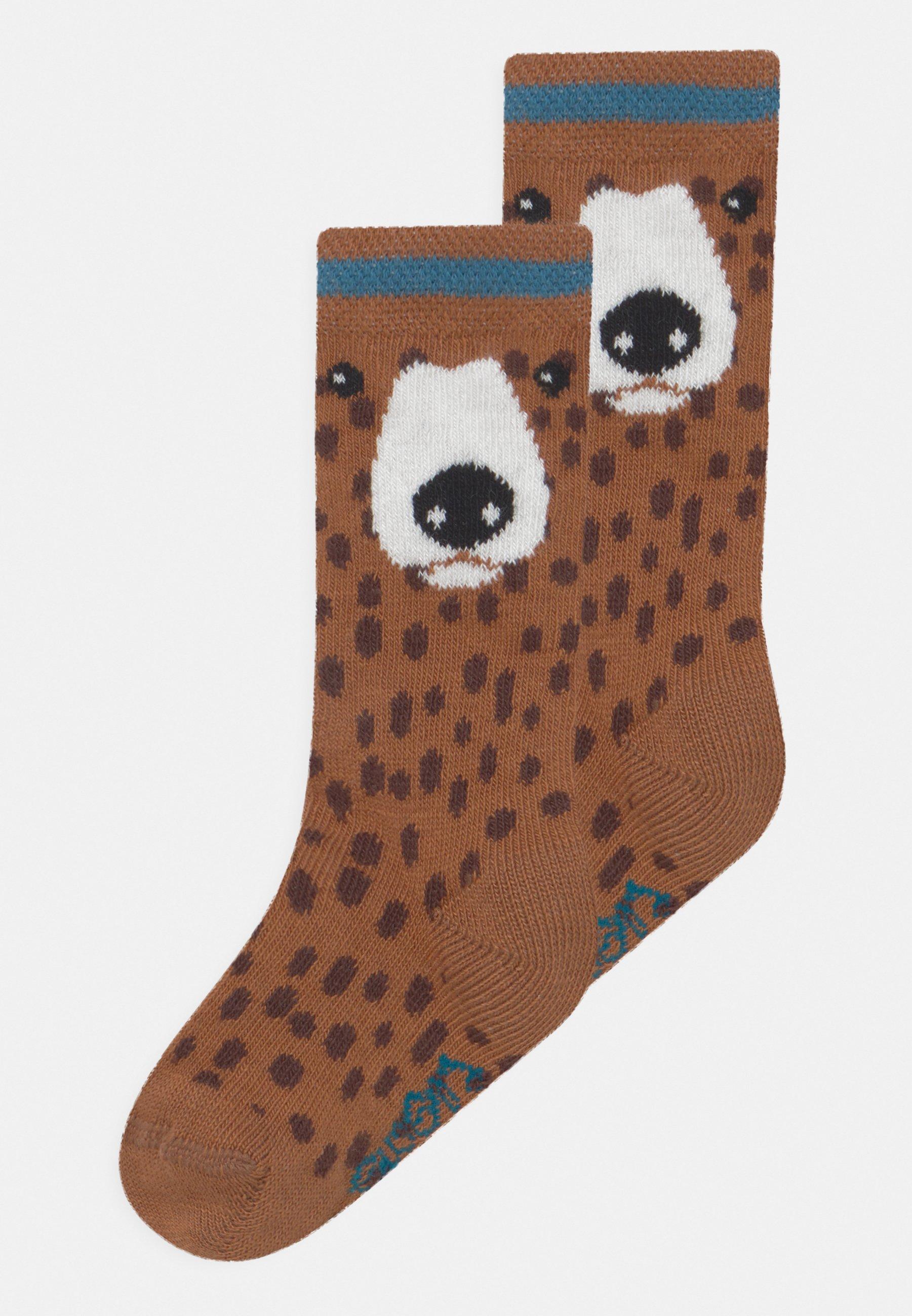 Kids BEAR KNEE HIGH 2 PACK UNISEX - Knee high socks