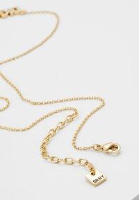 DKNY - PAVE LOGO PENDANT  - Necklace - gold-coloured - 2