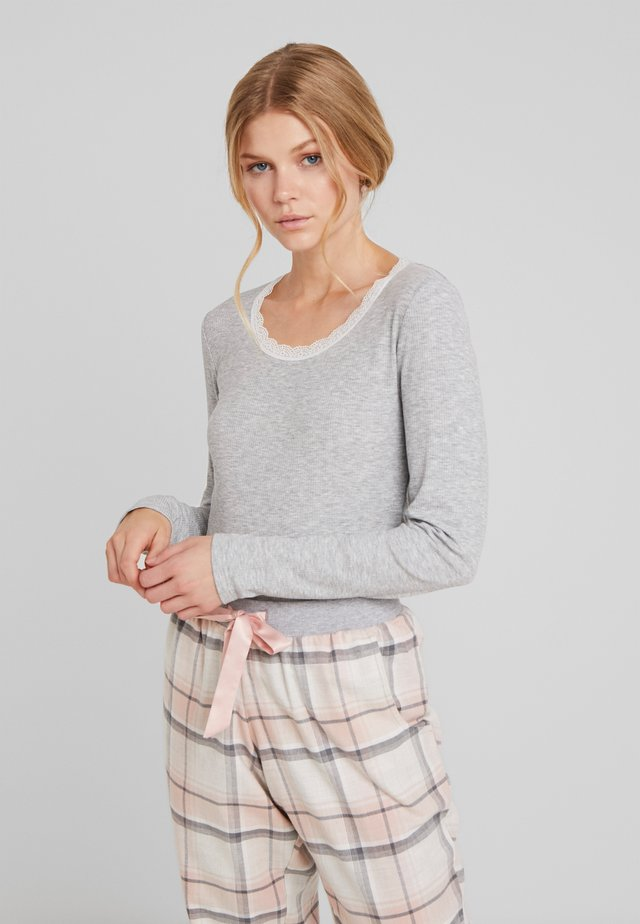 Pyjama top - warm grey melange