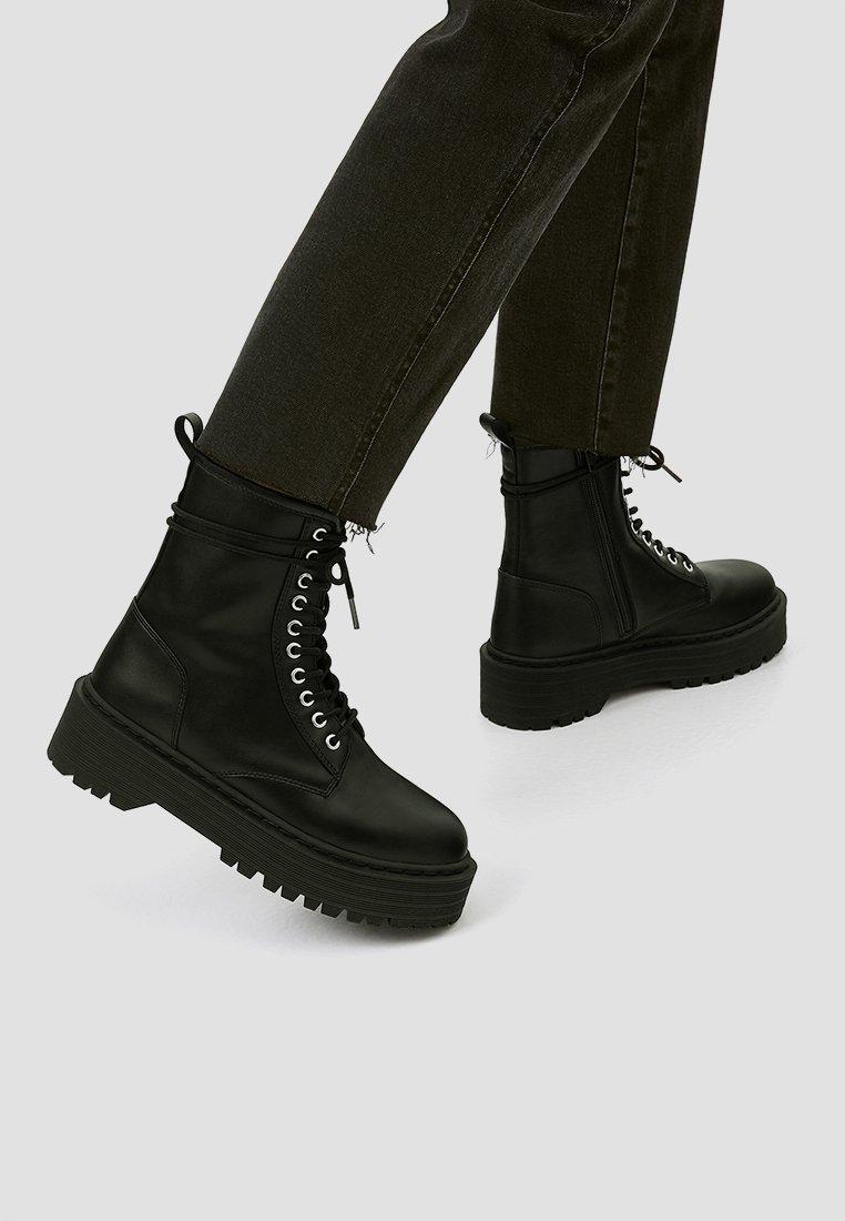 PULL&BEAR - Veterboots - black