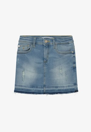 LUSTER - Denim skirt - denim