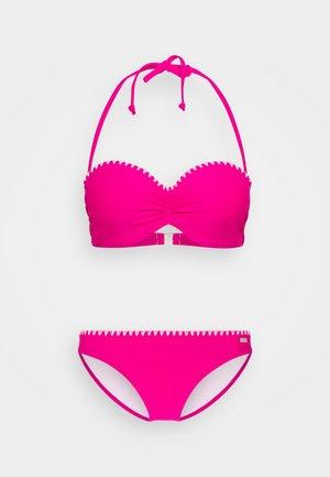 WIRE BANDEAU SET - Bikiny - pink