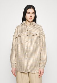 Noisy May - NMSTANNY  FLANNY  - Classic coat - pristine/with tannin houndstooth - 0