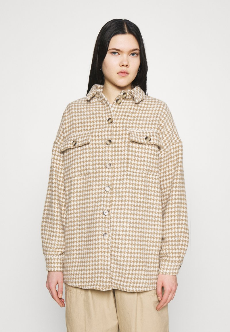 Noisy May - NMSTANNY  FLANNY  - Classic coat - pristine/with tannin houndstooth