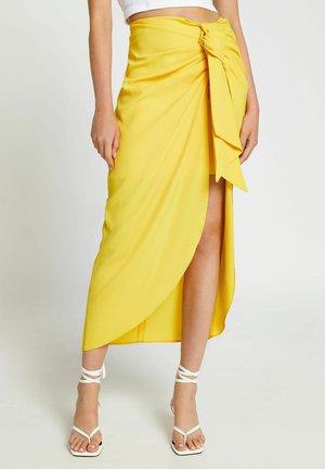 Wrap skirt - yellow