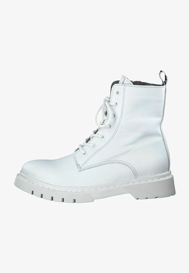 Bottines à lacets - white uni