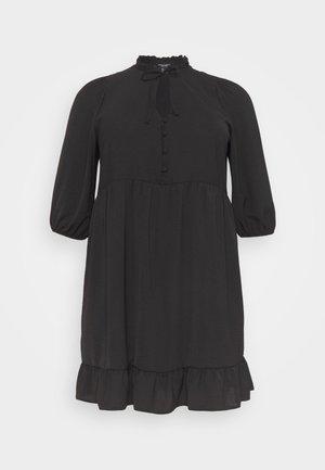 HERRINGBONE SMOCK DRESS - Vestito estivo - black