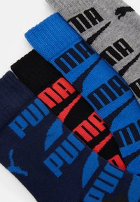Puma - BOYS SEASONAL LOGO SOCK 4 PACK - Strømper - grey/black blue - 1