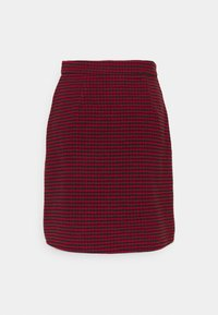 Missguided Tall - DOGTOOTH PRINT MINI SKIRT - A-line skirt - red - 1