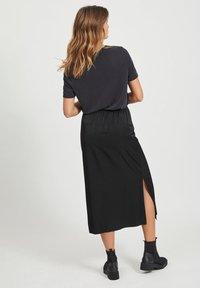 Object - MAXIROCK EINFARBIGER GESCHLITZTER - A-line skirt - black - 2