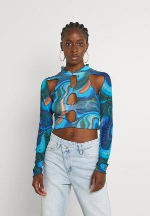 SWIRL CUT OUT  - Maglietta a manica lunga - multi coloured