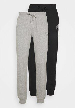 JJIGORDON JJSHARK PANTS 2 PACK - Spodnie treningowe - black/light grey melange