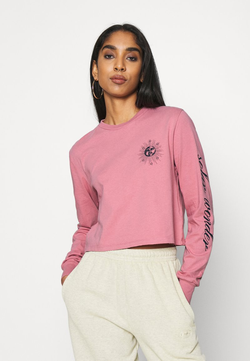 BDG Urban Outfitters - SOLAR CROP - Long sleeved top - pink