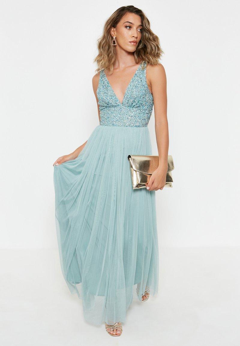 BEAUUT - EMBELLISHED SEQUINS  - Cocktail dress / Party dress - mint