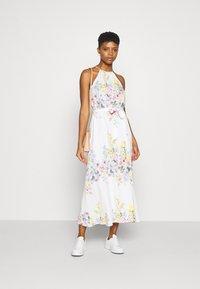 ONLY - ONLALMA LIFE LONG DRESS - Maxi dress - cloud dancer/summer botanic - 1