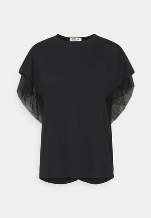 T-shirt med print - black beauty