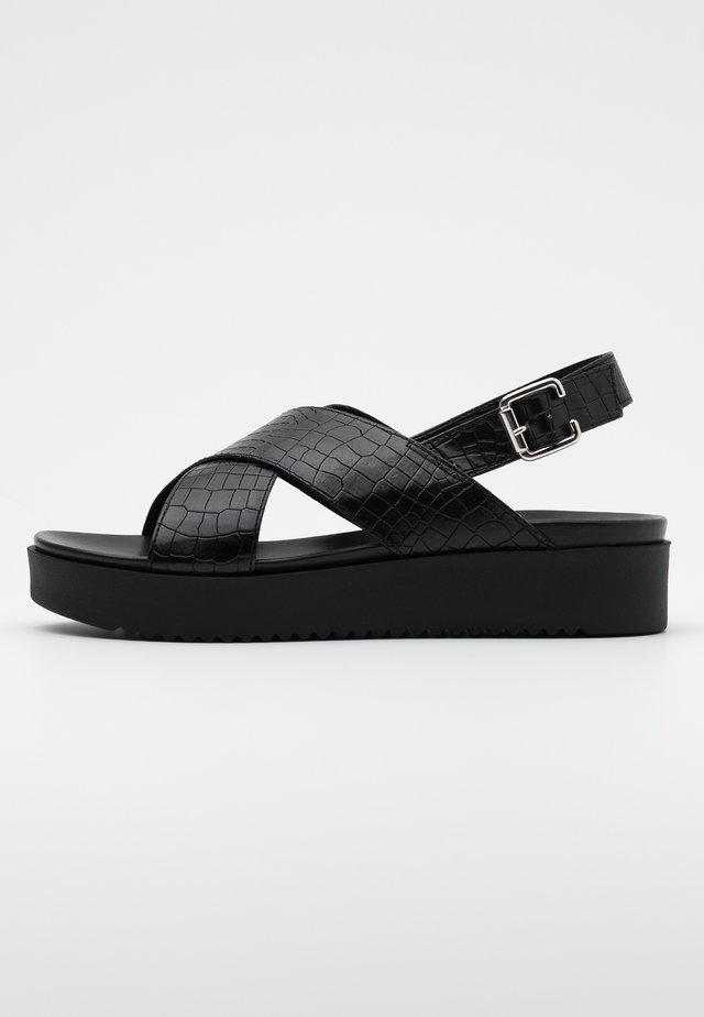YORK PLUS - Sandalen met plateauzool - nero