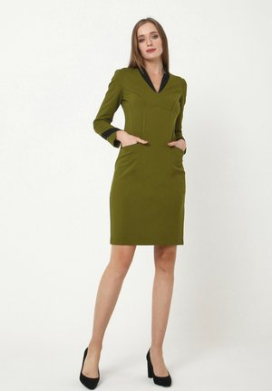 Jersey dress - khakifarben