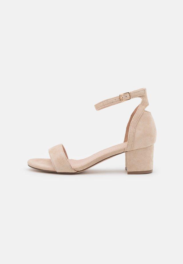LEATHER - Sandały - beige