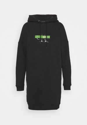 CENSORED HOODIE DRESS - Day dress - black