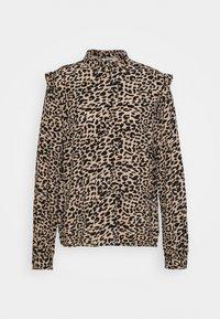 b.young - BXJULA - Button-down blouse - golden sand combi - 3