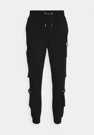 CUFFED CARGO WITH REFLECTIVE DETAILS - Cargo trousers - black