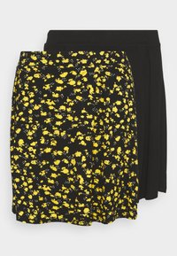 2 PACK - A-line skirt - black/multi-coloured