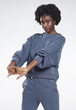 OVERSIZE COVER-UP - Sweatshirt - blue