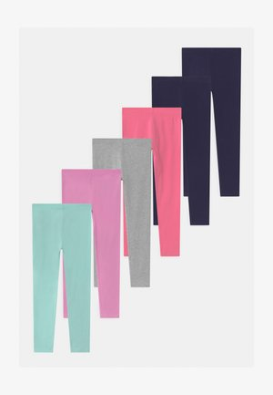 7 PACK - Leggings - Hosen - dark blue/purple/pink