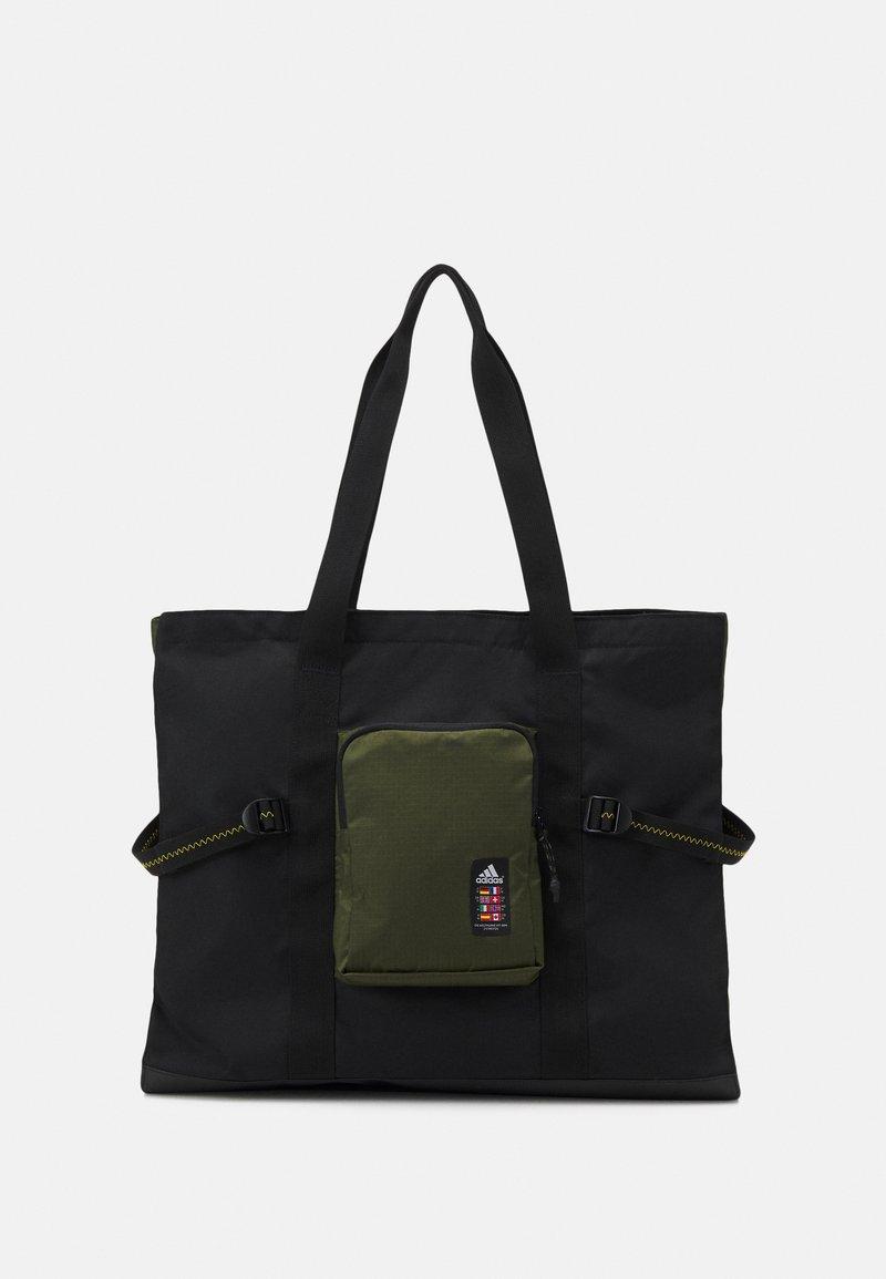 adidas Performance - TOTE - Tote bag - black/wild pine