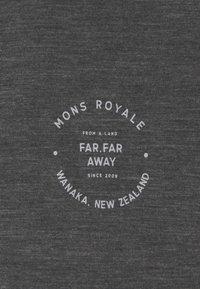 Mons Royale - VAPOUR - Triko spotiskem - smoke - 5