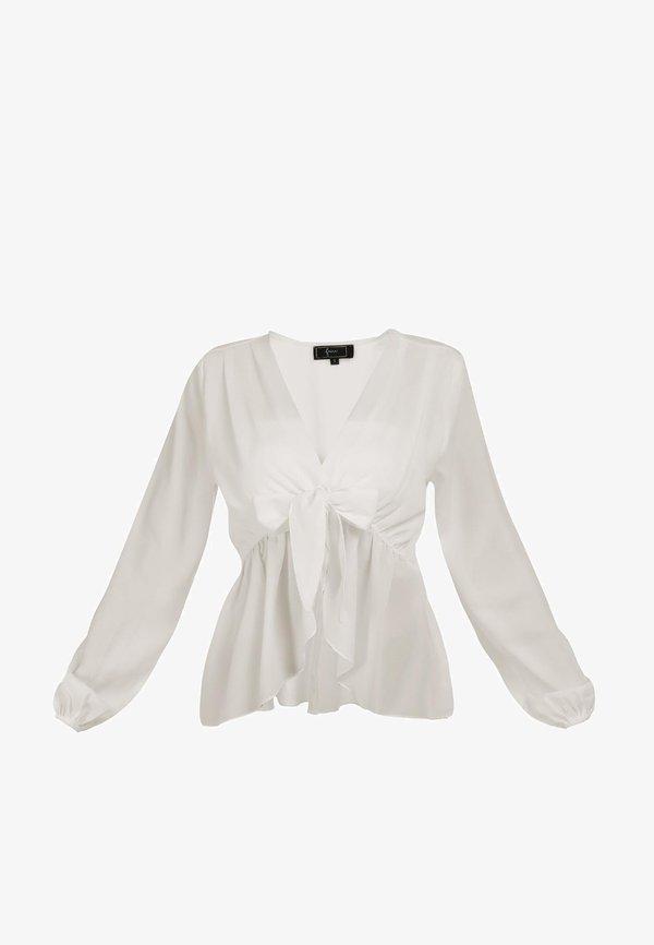 faina BLUSE - Bluzka - off-white/biały YGDQ