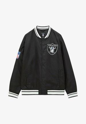 NFL - Kurtka Bomber - mottled black
